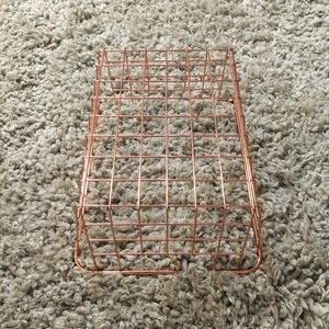 Target Accents - Rose Gold Wire Basket